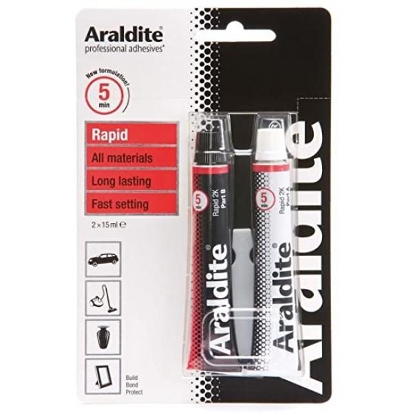 Araldite Rapid 2x15ml – Εποξική Κόλλα 2 Συστατικών  ΚΟΛΛΕΣ – ΣΤΕΓΑΝΟΠΟΙΗΤΙΚΑ e-mercouris.gr